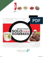 Recetario Solo Para Hombres by Chef Oropeza