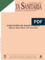 Evaluacion de La Salud Publica