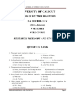 QB Research Methods and Statistics