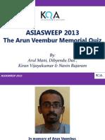 AsiaSweep 2013 Answers