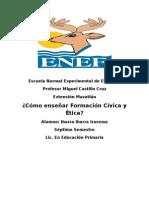 Como Enseñar Formación Civica y Etica