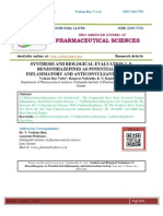 SYNTHESIS AND BIOLOGICAL EVALUATION 1, 5- BENZOTHIAZEPINES AS POTENTIAL ANTI INFLAMMATORY AND ANTICONVULSANT ACTIVITY