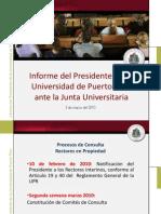 Informe del Presidente de la UPR