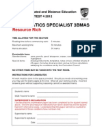 3BMAS 2012 Resource Rich Test 4 and Form Sht