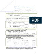Ejemplos de Contabilización de Asientos de Compras y Ventas y Regularización de Existencias
