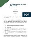 State Bank of Pakistan Paper of Junior Officer OG