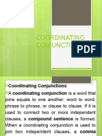 Coordinating Conjunctions Ppt