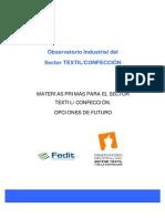 Estudio Materias Primas Sector Textil