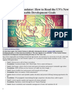 Agenda 2030 Translator - How to Read the UN's New Sustainable Development Goals