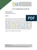 Cara Membuat Gambar 2d Di Autocad Muhammad Faisal