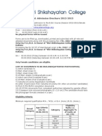 B.ed. Admission Brochure 2012