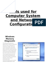 Tools Used for Computer System and Network Configuration