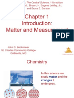 chemistry chapt 1 MATTER AND MEASUREMENT