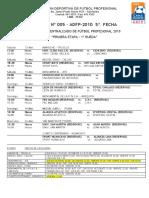 5ª  FECHA DEL TORNEO DESCENTRALIZADO DE FUTBOL PROFESIONAL2010