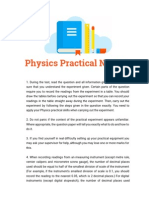 Best Physics Practical Notes