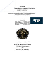 Presentasi SPM-Organisasi Multinasional