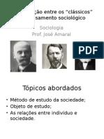 Quadros comparativos - Durkheim, Weber e Marx