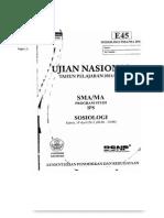 Soal Un Sosiologi Tipe e45 Tahun 2012 120613092621 Phpapp01