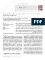 Nouri - Designing a Developed Model for Assessing the Disaster Induced Vulnerability Value in Educational Centers