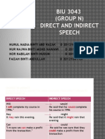 El 4-Direct n Indirect Speech