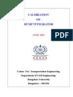 Calibration Survey of Bump Integrator-MERLIN 2015 Non BUB