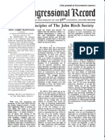 Beliefs and Principles of the John Birch Society
