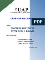 Tratados Limitrofes Entre Peru y Bolivia