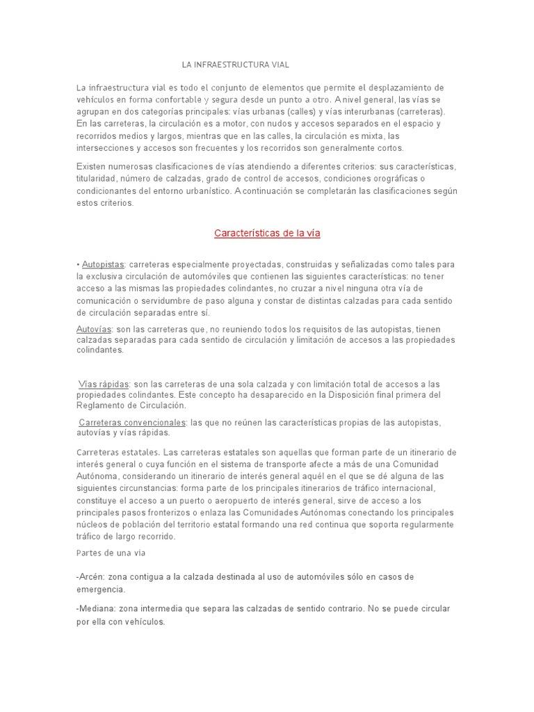 Resumen De La Infraestructura Vial Docx