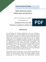 Normas Jurídicas de Nicaragua Control Interno.