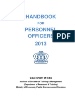 Handbook for Personnel Officers