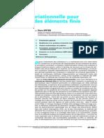 (Techniques de L'Ingénieur - Af 503) Approche Variationnelle Pour La Méthode Des Éléments Finis