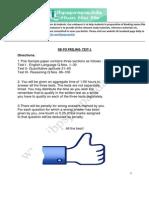 Sbi Po 2015 -Prelims Sample Paper 1
