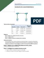 2.3.2.5 Packet Tracer:Implementación de Conectividad Básica