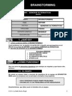 Brainstorming Boxes Parrilla WorryWillie Gantt Metodo de Camino Critico (MCC)