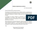 Informe de Rendición de Cuentas Miss Universidad 2015