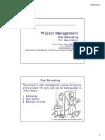 PMI72 Cost Estimating