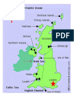 Map for Labelling the Britidh Isles