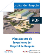 Plan Maestro de Inversiones del Hospital de Huaycán Vol I [v.2]