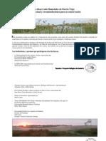 ZR Humedales de Puerto Viejo, Situación actual y recomendaciones para su conservación[1].