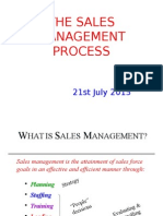 The Sales Management Process
