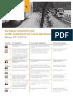 Neumaticos Invierno Regulacion EU