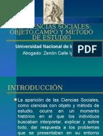 II. Las Ciencias Sociales Objeto de Estudio,Campo de Estudio y Metodo de Estudio