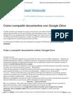 Como compartir documentos con Google Drive | Community Manager Venezuela