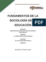 Fundamentos de La Sociologìa de La Educaciòn