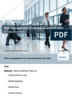 Risk Management in Various Phases of Order-