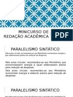 Minicurso de Redação Acadêmica.pptx