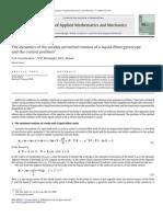 Journal of Applied Mathematics and Mechanics Volume 72 Issue 6 2008 Gurchenkov; V.v. Korneyev; M.v. Nosov -- The Dynamics