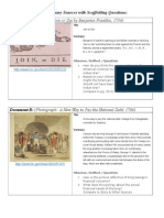 set of primary sources with scaffolding questions