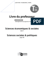 Livre du professeur / Sciences économiques & sociales / Sciences sociales & politiques / 2015