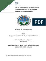 Definición y Terminología Del Agua